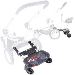 iSafe SegBoard Buggy Board Sit Or Step Pram Board - Swirl - Baby Travel UK  - 10