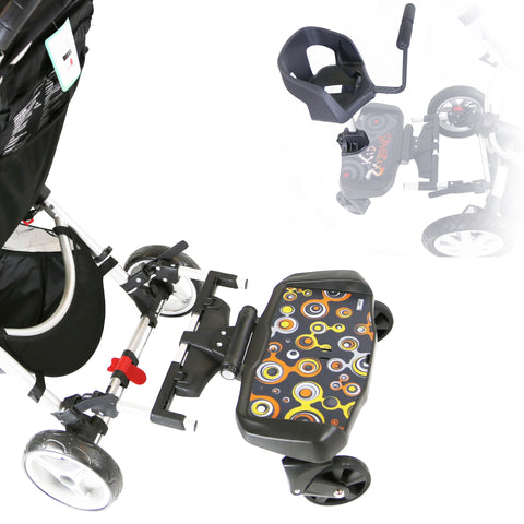 iSafe SegBoard Buggy Board Sit Or Step Pram Board - Bubble Complete With Saddle Seat PLUS