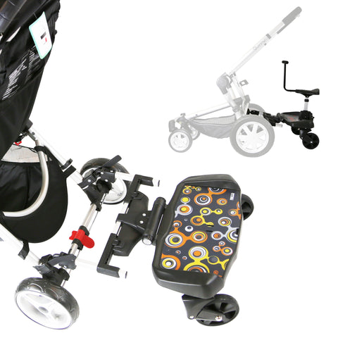 iSafe SegBoard Buggy Board Sit Or Step Pram Board - Bubble Complete With Saddle Seat