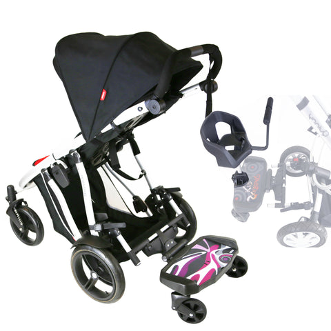 iSafe SegBoard Buggy Board Sit Or Step Pram Board - Splash Complete With Saddle Seat PLUS