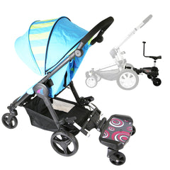 iSafe SegBoard Buggy Board Sit Or Step Pram Board - Swirl Complete With Saddle Seat - Baby Travel UK  - 1