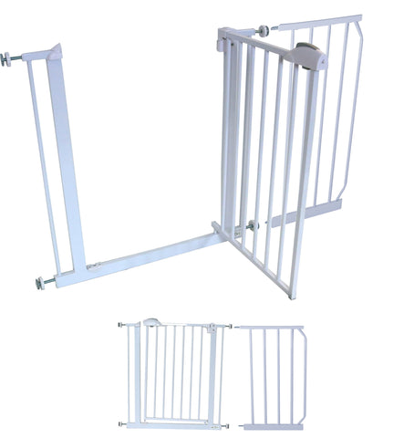 iSafe DeLuxe Safety Stair Gate 90° STOP OPEN & Auto-Close StairGate (30 cm Extension Included)