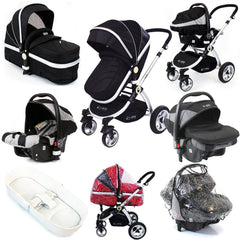 iSafe System - Black Travel System Complete Package With Bedding - Baby Travel UK  - 1