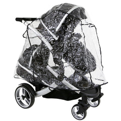 iSafe Tandem Raincover to Fit - Hauck Free Rider Twin Stroller - Baby Travel UK  - 2