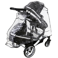 iSafe Tandem Raincover to Fit - Hauck Free Rider Twin Stroller - Baby Travel UK  - 4