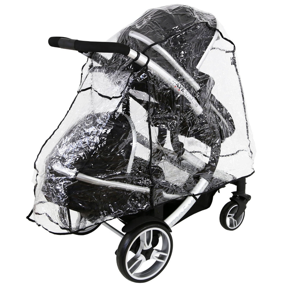 Black Rain Cover to fit OBABY car seat Raincover VENTILATED