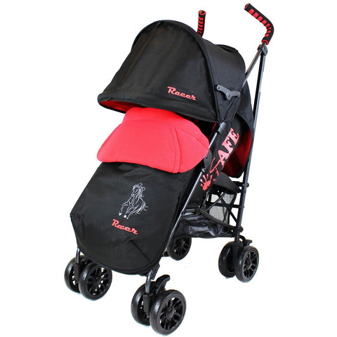 iSafe buggy Stroller Pushchair - Racer (Complete With Footmuff, Bumper Bar & Rain cover)
