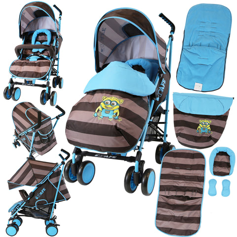 iSafe Stroller - iDiD iT Complete With Footmuff Headhugger, Raincover