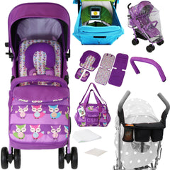 iSafe OPTIMUM Stroller Foxy Design + Changing Bag + Stroller Bag + Parent Console