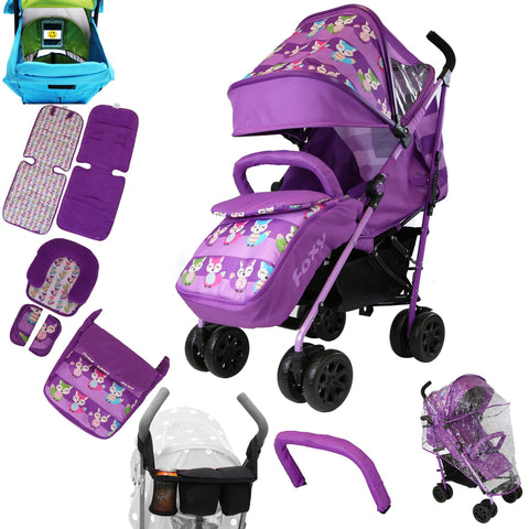 New 2017 iSafe - OPTIMUM Stroller Foxy Design + Parent Console