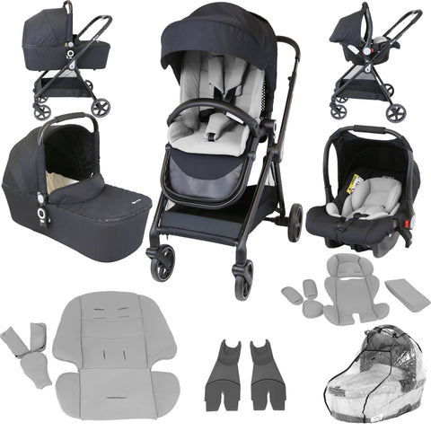 iStyle 3 in 1 Pram Travel System (Creamy / Grey)