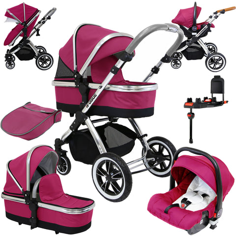 iVogue Sienna 3in1 Pram Stroller Travel System (Inc Carseat & Isofix Base )