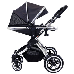 iVogue Silver Shadow 3in1 Pram Stroller Travel System (Car Seat Included)