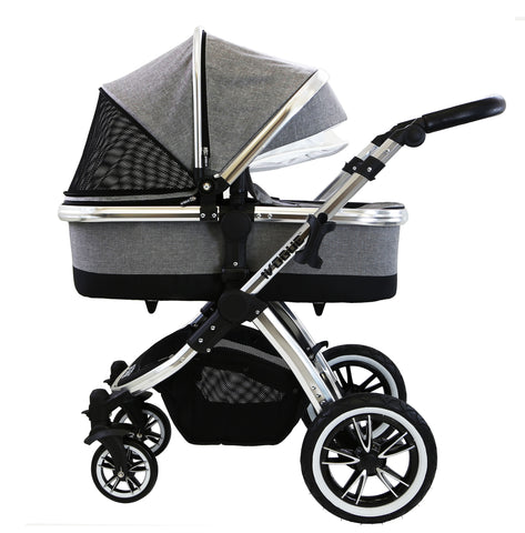 iVogue - Grey Pram System (Options)