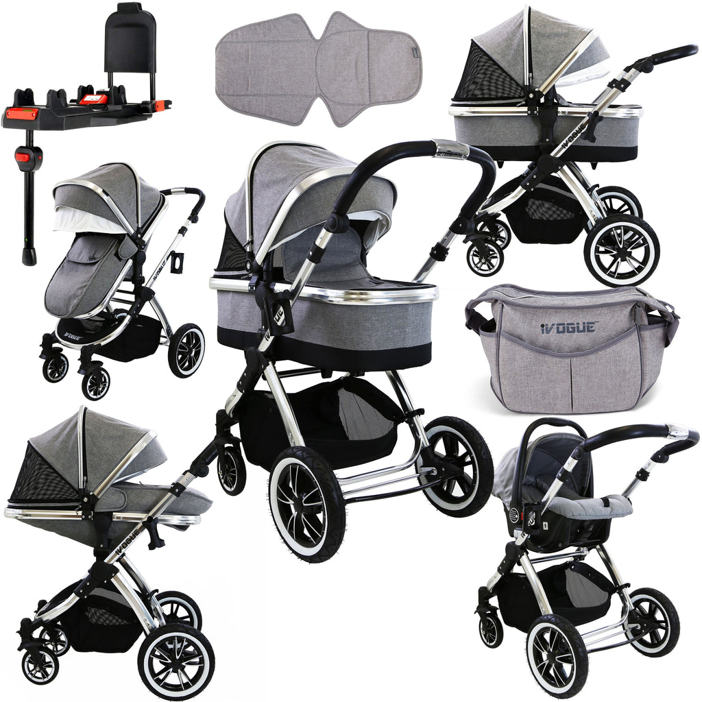 iVogue Package Carrycot, Carseat, Isofix Base
