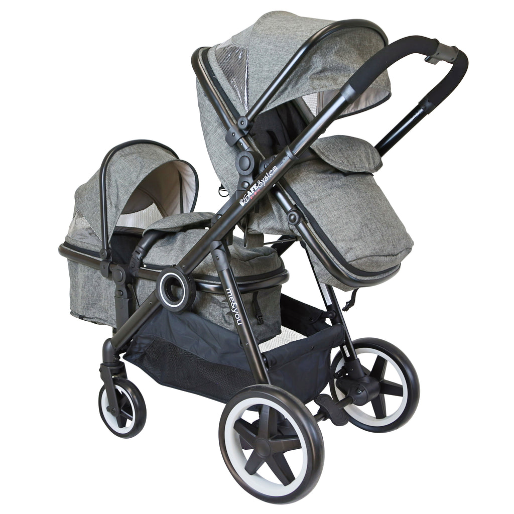 iSafe Tandem Harmony With Prent Facong And Carrycot Mode