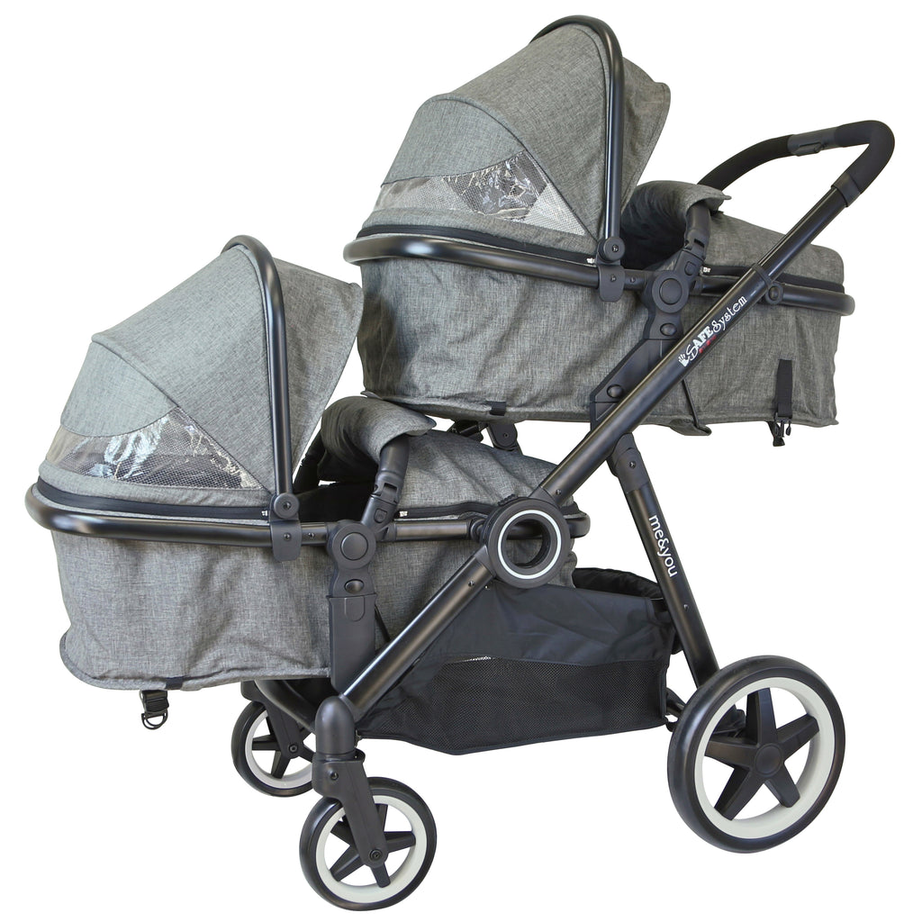 iSafe Tandem Pram With Carrycots