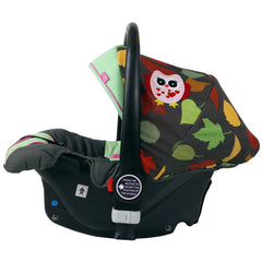 i-Safe System - Owl & Button Trio Travel System Pram & Luxury Stroller 3 in 1 Complete With Car Seat And Rain Covers & Foot Muffs - Baby Travel UK  - 17
