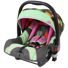 i-Safe System - Owl & Button Trio Travel System Pram & Luxury Stroller 3 in 1 Complete With Car Seat And Rain Covers & Foot Muffs - Baby Travel UK  - 18