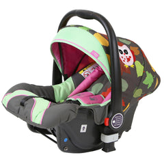 i-Safe System - Owl & Button Trio Travel System Pram & Luxury Stroller 3 in 1 Complete With Car Seat And Rain Covers & Foot Muffs - Baby Travel UK  - 16
