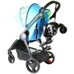 iSafe SegBoard Buggy Board Sit Or Step Pram Board - Swirl Complete With Saddle Seat PLUS - Baby Travel UK  - 4