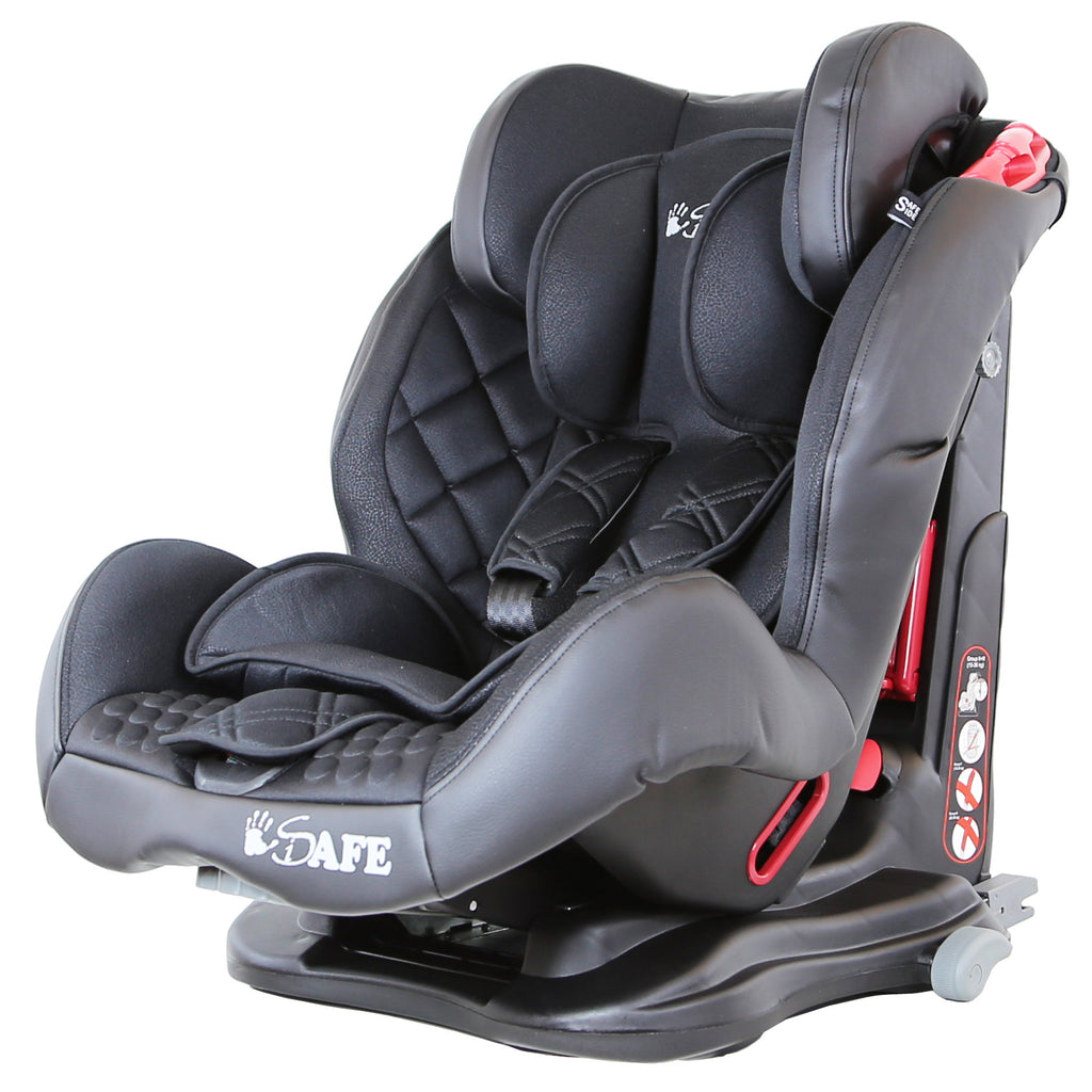 iSafe Isofix Duo Trio Plus Isofix  Top Tether Car Seat Carseat Raven Black - Baby Travel UK  - 1