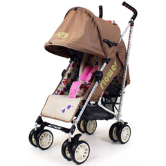 iSafe buggy Stroller Pushchair - Flowers (Complete With Footmuff, Bumper Bar & Rain cover) - Baby Travel UK  - 4