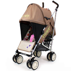 iSafe buggy Stroller Pushchair - Flowers (Complete With Footmuff, Bumper Bar & Rain cover) - Baby Travel UK  - 8
