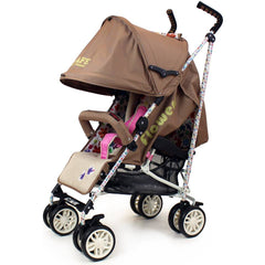 iSafe buggy Stroller Pushchair - Flowers (Complete With Bumper Bar & Rain cover) - Baby Travel UK  - 8