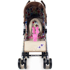 iSafe buggy Stroller Pushchair - Flowers (Complete With Footmuff, Bumper Bar & Rain cover) - Baby Travel UK  - 5