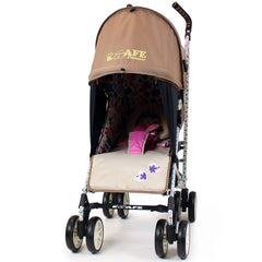 iSafe buggy Stroller Pushchair - Flowers (Complete With Footmuff, Bumper Bar & Rain cover) - Baby Travel UK  - 6