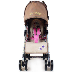 iSafe buggy Stroller Pushchair - Flowers (Complete With Footmuff, Bumper Bar & Rain cover) - Baby Travel UK  - 7