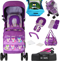iSafe OPTIMUM Stroller Foxy Design+Changing Bag+Stroller Bag