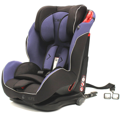 iSafe Multi Recline Isofix Car Seat Carseat Indigo Group 1 2 3 9kg to 36kg