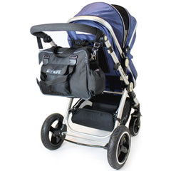 i-Safe Complete Trio Travel System Pram & Luxury Stroller Orange - Baby Travel UK  - 20