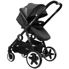 iSafe Tandem Pram me&you - Black (Black) + All Raincovers