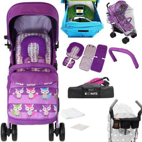 iSafe Optimum Stroller Foxy With Parent Console And Stroller Travel Bag