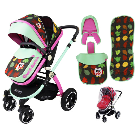 iSafe Baby Pram System 2in1 - Owl & Button