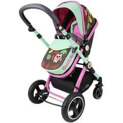 iSafe System - Owl & Button Trio Travel System Pram & Luxury Stroller 3 in 1 Complete With Car Seat - Baby Travel UK  - 4