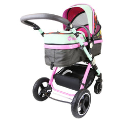 i-Safe System - Owl & Button Trio Travel System Pram & Luxury Stroller 3 in 1 Complete With Car Seat And Rain Covers & Foot Muffs - Baby Travel UK  - 7