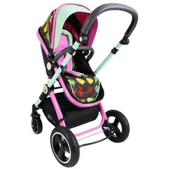i-Safe System - Owl & Button Trio Travel System Pram & Luxury Stroller 3 in 1 Complete With Car Seat And Rain Covers & Foot Muffs - Baby Travel UK  - 8