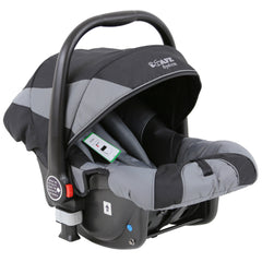 i-Safe System - Grey Trio Travel System Pram & Luxury Stroller 3 in 1 Complete With Car Seat + Footmuff + Carseat Footmuff + Rain Covers - Baby Travel UK  - 13