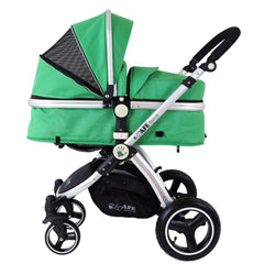 iSafe 2 in 1  Pram System - Leaf Complete With Raincover And Bedding - Baby Travel UK  - 4