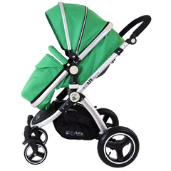 iSafe 2 in 1  Pram System - Leaf Complete With Raincover And Bedding - Baby Travel UK  - 5