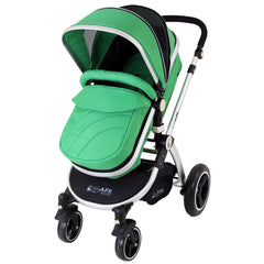 iSafe 2 in 1  Pram System - Leaf Complete With Raincover And Bedding - Baby Travel UK  - 3