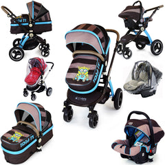 i-Safe System - i DiD iT Trio Travel System Pram & Luxury Stroller 3 in 1 Complete With Car Seat And Rain Covers - Baby Travel UK  - 1