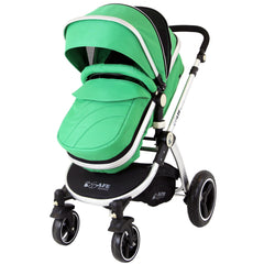 iSafe 2 in 1  Pram System - Leaf Complete With Raincover And Bedding - Baby Travel UK  - 2