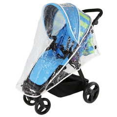 Sail Stroller - Ocean Lime Includes Bumper Bar Rain cover Bootcover & Bag - Baby Travel UK  - 8