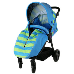 Sail Stroller - Ocean Lime Includes Bumper Bar Rain cover Bootcover & Bag - Baby Travel UK  - 4
