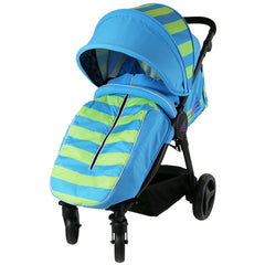 Sail Stroller - Ocean Lime Includes Bumper Bar Rain cover Bootcover & Bag - Baby Travel UK  - 5